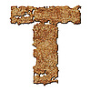 Photo 300 DPI: Rusted letter T