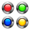 Vector clipart: Metallic round buttons