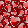 Векторный клипарт: бесшовный узор сердечки