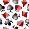 Playing card symbols seamless pattern