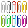 Vector clipart: Paper clips