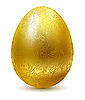 Vector clipart: Golden Eastern egg