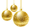 Vector clipart: golden Christmas balls