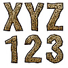 ID 3075508 | Деревянные буквицы и цифры | Иллюстрация большого размера | CLIPARTO
