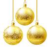 Vector clipart: Golden Christmas balls