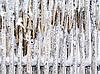 Snowbound fence | Stock Foto