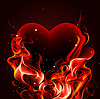 Vector clipart: Burning heart