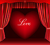 Vector clipart: Heart and curtain