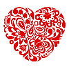 Vector clipart: Red ornamental heart