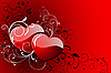 Vector clipart: Happy Valentine`s day card