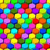 Hexagon seamless abstract colorful pattern