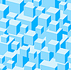 Vector clipart: Blue boxes seamless pattern