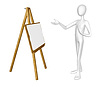 Photo 300 DPI: Man with easel