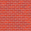 Vector clipart: Seamless red brick wall