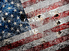 Photo 300 DPI: Holed grungy American flag background