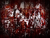 Photo 300 DPI: Red grunge wall abstract background