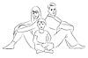 Векторный клипарт: семья