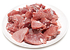 Raw meat on white plate | Stock Foto