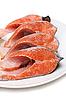 ID 3050776 | Rote Fische auf dem Teller | Foto mit hoher Auflösung | CLIPARTO
