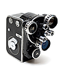 Old movie camera 16 mm with three lenses | Stock Foto