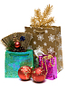 Gifts and new year`s embellishment | Stock Foto