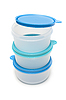 Round plastic food containers | Stock Foto