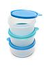 Runde Kunststoffbehälter für Essen | Stock Photo