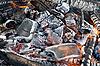 캠프 파이어는 석탄을 연소   Stock Foto