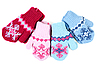 Baby knitted mittens with pattern | Stock Foto