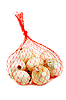 Onion in red string bag | Stock Foto