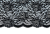 Photo 300 DPI: Black lace with pattern with form flower