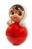 Фото 300 DPI: Красная пластиковая кукла изолированные