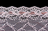 Rose lace with pattern in form flower   Stock Foto
