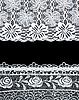 Decorative lace with pattern on black   Stock Foto
