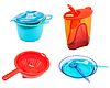 Photo 300 DPI: Collage plastic dishes