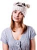 Фото 300 DPI: Портрет молодой девушки в зимней шапочке