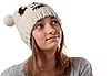 Portrait of the young girl in winter hat | Stock Foto