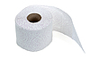 Perforated toilet paper in roll   Stock Foto
