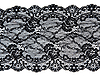 Photo 300 DPI: Black lace with flower pattern