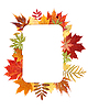 Autumn frame of leaves | Stock Foto