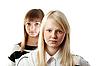 Portret dwóch dziewczyn | Stock Foto