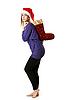 ID 3066376 | Schönes Mädchen in roter Weihnachtsmütze | Foto mit hoher Auflösung | CLIPARTO