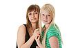 Portrait of two girl friends | Stock Foto
