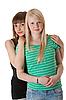 청바지에 두 여자 | Stock Foto