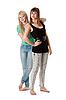 Two girls in jeans | Stock Foto