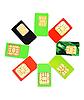 Photo 300 DPI: Eight colorful sim cards