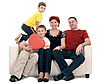 Family on the couch | Stock Foto