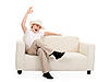 Boy on sofa | Stock Foto
