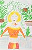 婴儿绘图,女人   光栅插图