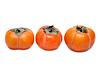 Three persimmons put in row | 免版税照片